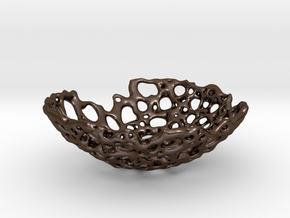 Bone Bowl 15cm in Polished Bronze Steel