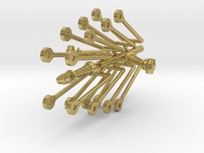 119 tender hanger brake beam assembly in Natural Brass