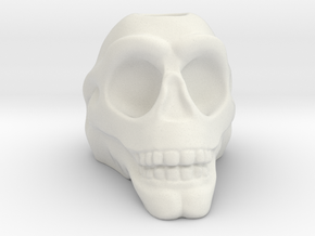 Stylized Skull 3D Pen Holder in White Natural Versatile Plastic: Small