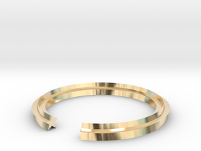 Star 12.37mm in 14k Gold Plated Brass