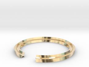 Star 13.21mm in 14k Gold Plated Brass