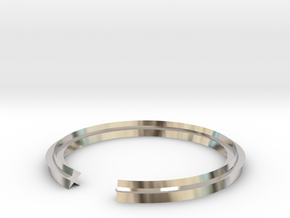 Star 14.05mm in Rhodium Plated Brass
