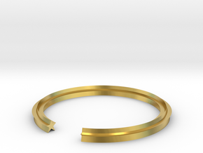 Star 16.00mm in Polished Brass