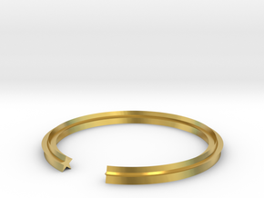 Star 16.30mm in Polished Brass