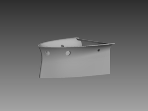 P boat Forward steering compartment 1/48 in Gray PA12