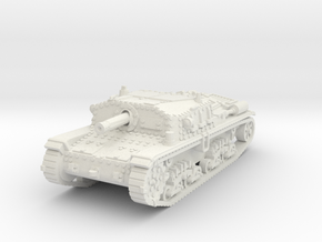 Semovente M42 75/18 1/87 in White Natural Versatile Plastic