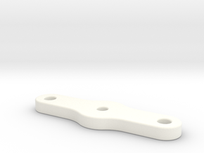 Snackbar v1.5 & 2.5 - Logo Housing Clamp Plate in White Processed Versatile Plastic