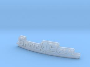 Snackbar v4, v3, 2.5 & v1.5 - Logo Insert in Smooth Fine Detail Plastic