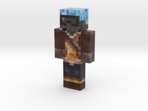 Captain Argon | Minecraft toy in Natural Full Color Sandstone