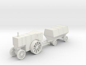 Flowrer B5 loco and car 1:87 in White Natural Versatile Plastic