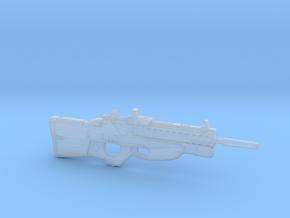 cyberpunk - near future rifle F2076T in 1/6 scale in Smooth Fine Detail Plastic
