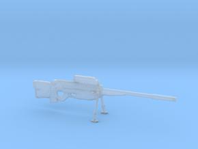 cyberpunk - near future Sniper rifle in 1/6 scale in Smooth Fine Detail Plastic