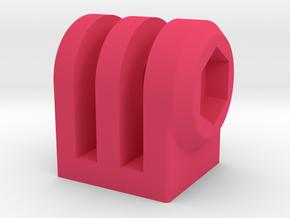DIY GoPro Mount Interface (3 Prong) in Pink Processed Versatile Plastic
