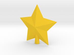 Arcade Star Tree Topper in Yellow Processed Versatile Plastic