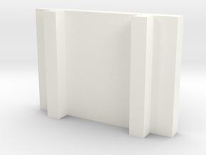 Half Size Sushi Plate in White Processed Versatile Plastic