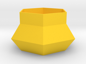 Hexagonal Planter in Yellow Processed Versatile Plastic