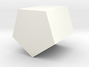 Simple Pentagonal Planter in White Processed Versatile Plastic