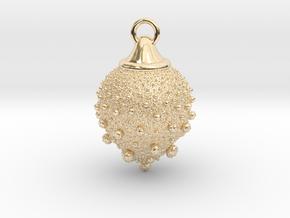 Fractal pendant - Strawberry fields in 14k Gold Plated Brass