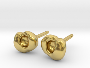 Optic Cup Earrings in Polished Brass