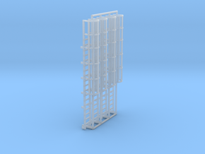 1:100 Cage Ladder 58mm Top in Smooth Fine Detail Plastic