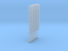 1:100 Cage Ladder 74mm Top in Smooth Fine Detail Plastic