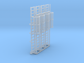 1:100 Cage Ladder 51mm Platform in Smooth Fine Detail Plastic