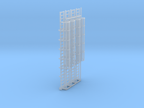 1:100 Cage Ladder 80mm Platform in Smooth Fine Detail Plastic