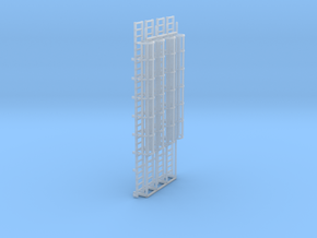 1:100 Cage Ladder 90mm Platform in Smooth Fine Detail Plastic