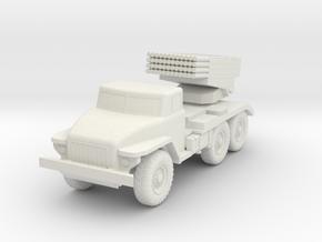Miniature BM-21 in White Natural Versatile Plastic: 1:100