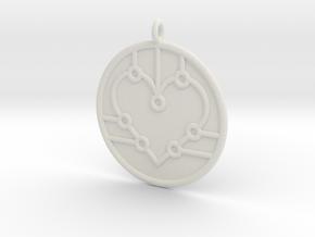 Biology Symbol in White Natural Versatile Plastic