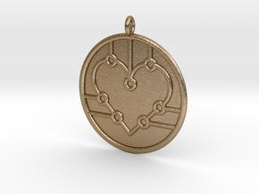 Biology Symbol in Polished Gold Steel