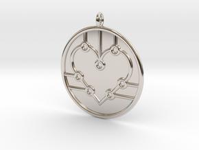 Biology Symbol in Rhodium Plated Brass