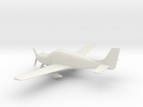 Cirrus SR22 in White Natural Versatile Plastic: 1:100