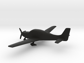 Cirrus SR22 in Black Natural Versatile Plastic: 1:100