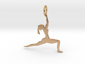 lady in Yoga Pose Pendant in Natural Bronze