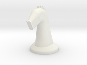 Chesspiece-Horse in White Natural Versatile Plastic