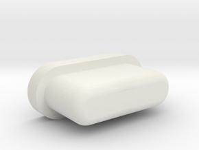 iRULU Power Button in White Natural Versatile Plastic