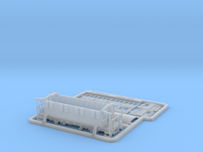 RhB AB101 Passenger Wagon in Smooth Fine Detail Plastic