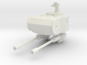 Marksman AA turret 1:100 in White Natural Versatile Plastic