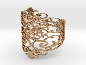 wrought elven filigree Ring  in Polished Bronze: 6 / 51.5
