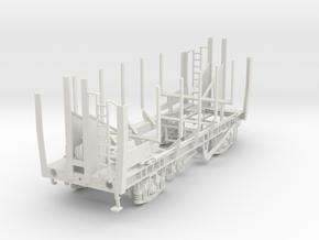 7mm PAA Grainflow wagon empty in White Natural Versatile Plastic