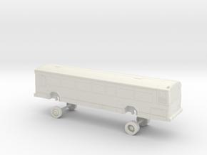 HO Scale Bus Gillig Phantom MST 1801-1804 in White Natural Versatile Plastic