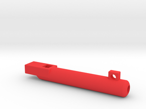 whistle long and round in Red Processed Versatile Plastic