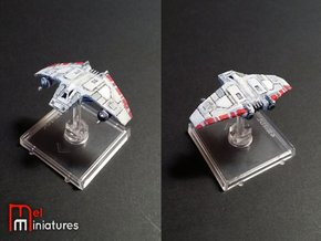 V-Wing Airspeeder 1/270 in White Strong & Flexible