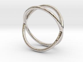 Ring 13 in Rhodium Plated Brass