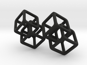 Double Diamond in Black Natural Versatile Plastic