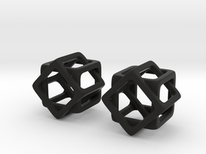 8 Sided Cube in Black Natural Versatile Plastic