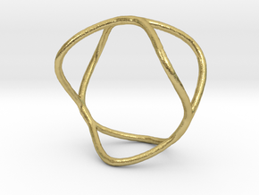 Ring 09 in Natural Brass