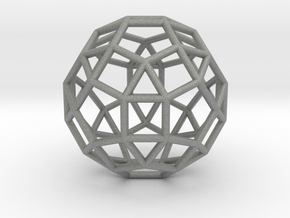 0275 Small Rhombicosidodecahedron E (a=1cm) #001 in Gray Professional Plastic