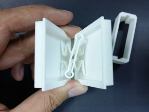 Ultra Slim Ring Box with Spinning Ring Feature in White Natural Versatile Plastic